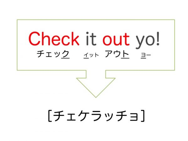 Check it out 意味 「check it out」,「check